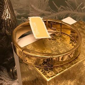 RARE NEW STUNNING 1/2 bangle bracelet MICHAEL KORS